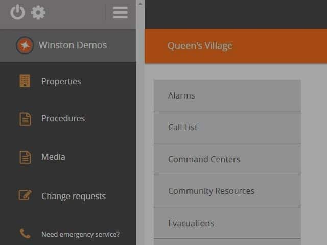 Screenshot of SecureCore's Emergency Preparedness Software  interface and smartphone mobile app